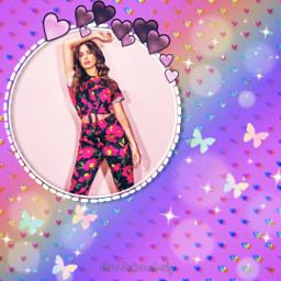 replay picsartreplay glitter rainbow overlay circle girl girly cute kawaii butterfly fxeffects beautiful freetoedit