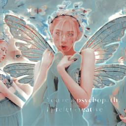 rose roseanne park parkrose blackpink fantasy angelic kpopedit blue red kpop angel wings aesthetic shinny filter fairy girl kpopidol korean singer     uksugar singer