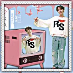 my happybirthday hopeday hope jhope cute aethetics kpopedit bts hoseok hobi edit editor pinkedit pink