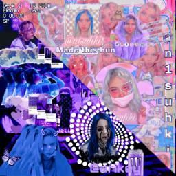 purple billieeilish colab freetoedit