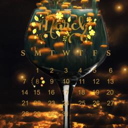 calendar march marchmadness gold goldenhour bright glass spring springtime light lights srcmarchcalendar2021 marchcalendar2021 freetoedit