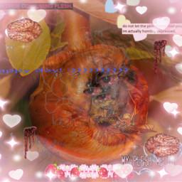 birthday weirdcore truamacore gore blood fear orange pink red eye freetoedit unsplash
