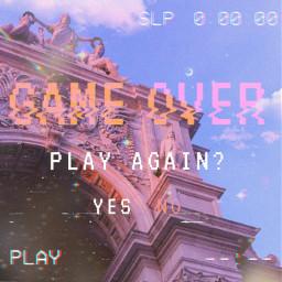 freetoedit gameover aestheticedit aesthetic pinkaesthetic pink life