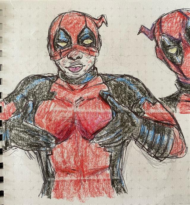 booba #deadpool #sketch #sketchbook