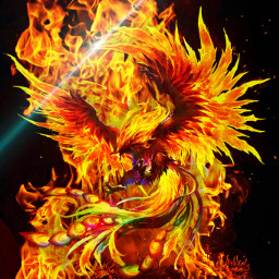 phoenixfire mysticalcreature firebackground adjustments camoflaged freetoedit
