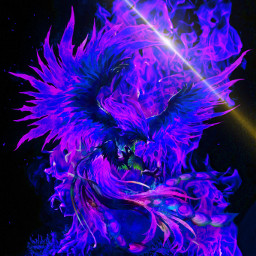 purplephoenix firebackground huechange freetoedit