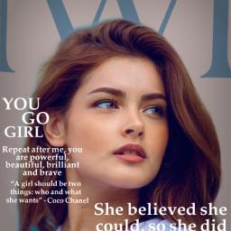 unsplash internationalwomensday yougogirl cover magazine magazinecover freetoedit