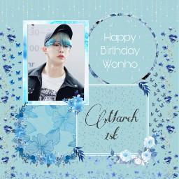 wonho wonhoedit kpop aesthetic edit blue march freetoedit