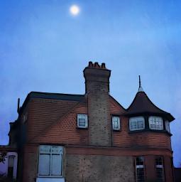 victorian house artistic moon freetoedit