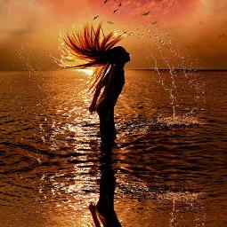 blending pukalani outofthisworld beachscene reflections freetoedit