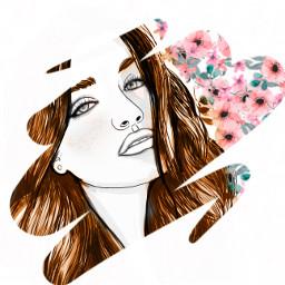 flowerpower blossom womanportrait freetoedit