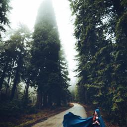 freetoedit nature forest road cloak