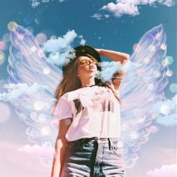 replay girl wings brushes spring freetoedit