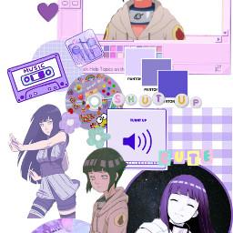 hinata hinatahyuga theme collage wallpaper purple naruto freetoedit