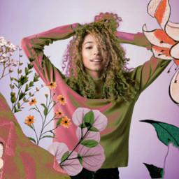 picsart multicolor flowers interesting girl woman beautifuledit creative myedit remixit remixed
