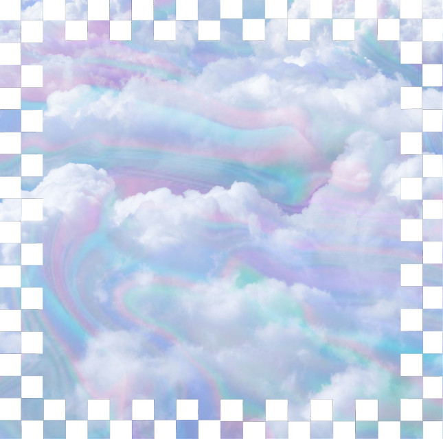 #label #background #clouds #sky #pastel #checkered #frame #blue #white
