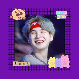 bts bangtanboys bangtansonyeondan suga yoongi minyoongi agust_d happybirthday happysugaday army bt21 love sweet cute idol art kpop kpopedit purple gummysmile hyung oppa freetoedit