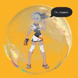 bea pokemon bubble pokemonswordandshield bubbletrouble bubbletrap trappedinabubble freetoedit