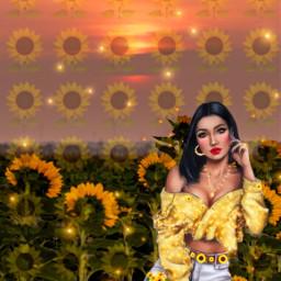 sunset sunflower sunkiss beauty style freetoedit