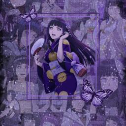 freetoedit hinatahyuga hinataedit hinatahyugaedit narutoshippuden naruto viral like viraledit glittereffect filter aesthetic purpleaesthetic