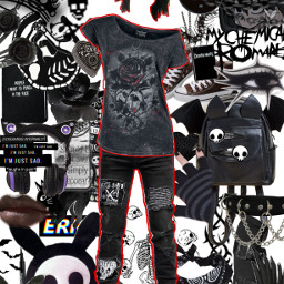 emo aesthetic polyvore outfit freetoedit