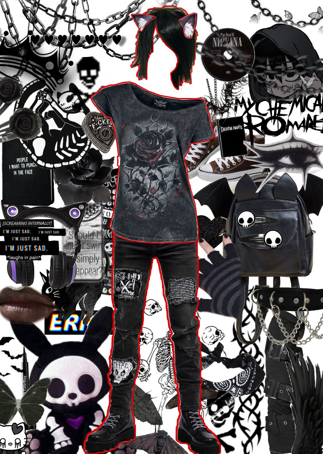 #emo #aesthetic #polyvore #outfit