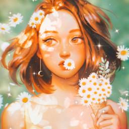 girl daisy daisies challenge rcchamomilesanddaisies chamomilesanddaisies freetoedit