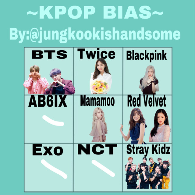 Here are my biases in groups im a ot8 in stray kids  #biases