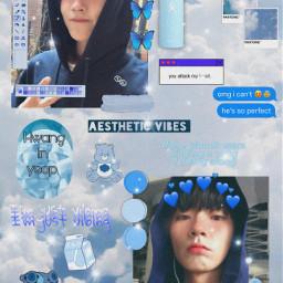 freetoedit wallpaper truebeauty hwanginyeop blueaesthetic