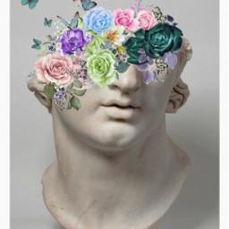 flower face statue freetoedit