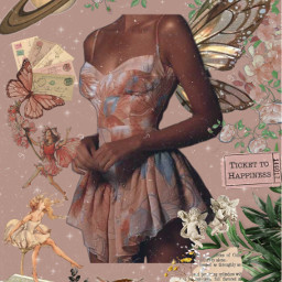 pink past aesthetic beauty cottagecore fairy corset flower vintage fairytale dream magic rose peach style fashion outfit dress wings space stars clouds freetoedit