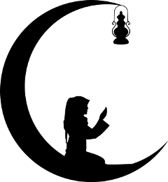 ramadan ramadhan crescentmoon lantern pray silhouette freetoedit
