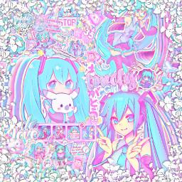 asthetic astheticallypleasing astheticedit animeedit anime icon iconedit sparkle sparkleedit animegirl animeiconedit complexedit complexanimeedit hatsunemiku miku blue pink vocaloid