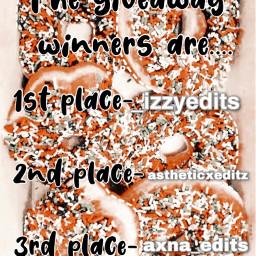 giveaway giveawaywinner giveawaywinners giveawayclosed congrats