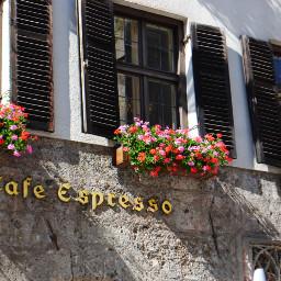 innsbruck tyrol austria cafe espresso flowers old sunny summer