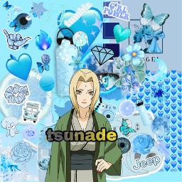 hokage tsunade blue naruto bleuclaire freetoedit
