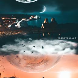 picsart myedit myremix surreal freetoedit sky photomanipulation photoart fxeffects earthplanet couple mars love followme