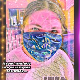selfie pastelmagiceffect artisticselfie mandelorianmask thisistheway