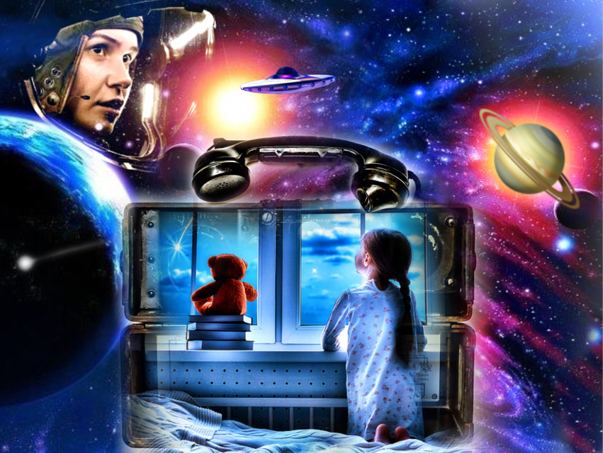 #retropayphoneremixchallenge #theouterlimits #space #telephone #communication #littlegirldreams #spaceexplorer #ufo #spacelife #planets #earth #saturn #stars 🌏🪐👩🏼‍🚀✨