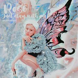 rose roseanne park rosepark blackpink fantasy colourful kpopedit color filter kpop fairy wings aesthetic light girl kpopidol korean singer     uksugar singer