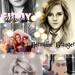 ginnyweasley lunalovegood hermionegranger trio harrypotter freetoedit