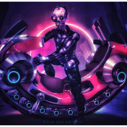 scifi motorcycle cyber cyborg android future futuristic robot skull
