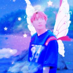 taehyun kangtaehyun taehyunkang txttaehyun txt tomorrowxtogether tomorrowbytogether tomorrow_x_together angel butterflies butterfly stars clouds halo blue red pink galaxy kpop kpopedit txtedit freetoedit