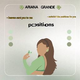 arianagrande positionsalbum green freetoedit