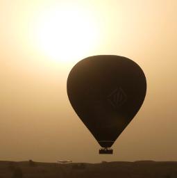 freetoedit desert nature dubai ballon sunrise