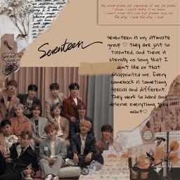 svt seventeen seventeenkpop brown aesthetic freetoedit