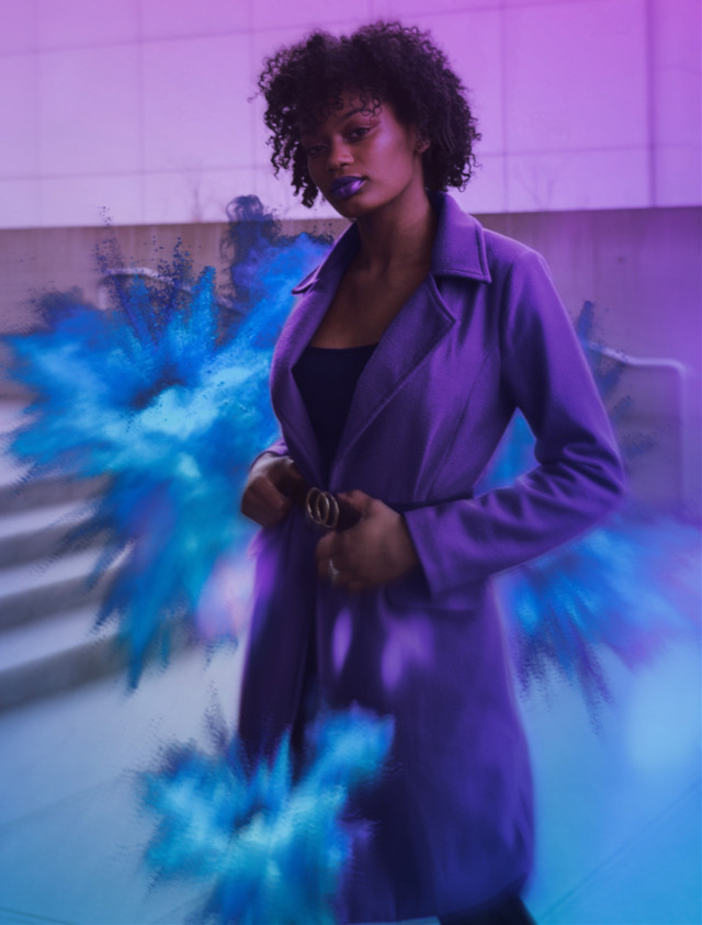 #paint #color #colors #colorful #art #edit #blue #purple #jacket #girl #girls #lady #woman #person #people #photography #holi #pretty #beautiful #hair #lipstick #interesting #freetoedit