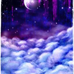 moon sky night cloud freetoedit