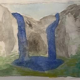 watercolor landscape sketchbook