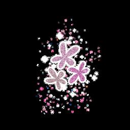 ftestickers flowers flower glitter pink gold sparkle bokeh freetoedit
